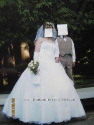 Красивое свадебное платье размер 44-48
