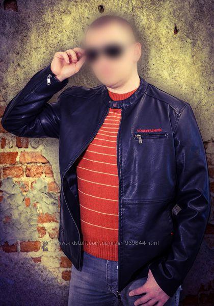 Куртка из искусственной кожи кожзам