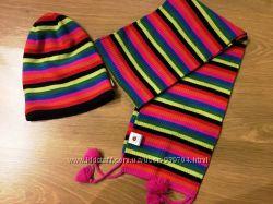Зимний комплект шапка и шарфик Lenne на 4-6 лет в идеальном состоянии