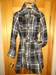 Продам классическое стильное пальто в клетку, Киев