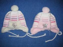 Тепленькі шапочки для дівчаток