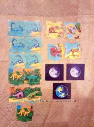 Магниты Растишка динозавры, карта мира