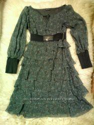 шифоновое платье 36р.