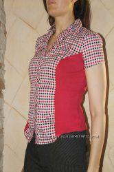 Красивая непринужденная приталенная блуза John Banner на 44-46 укр р