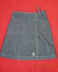 Красивая джинсовая юбочка на запах L. O. G. G. на 9 лет