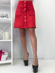 Стильная по оптовой цене юбка из стрейч замши SML на 46 укр р