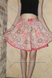 Летняя натуральная юбка Bonprix на 7-8 лет, размер 128