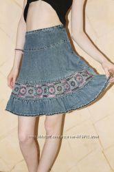 Добротная стильная джинсовая юбка Kids Club 128 см на 7-8 лет