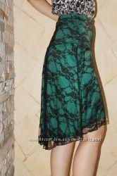 Ассиметричная юбка Bonbrix из нежного гипюра на 46-48-й укр р