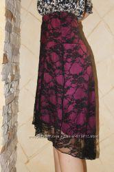 Ассиметричная гипюровая юбка Bonbrix на 46-48-й укр р