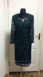 Гипюровое платье гипюр женские платье бордовое зеленое синее опт оптом