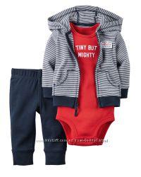 В наличии костюмы  Carters тройки для новорожденых