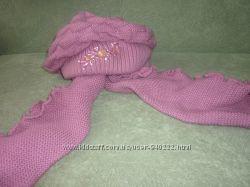 Женский набор  вязаные шапка шарф