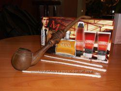 Трубка для курения ручной работы и три палочки для чистки подарок