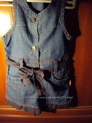 Два джинсовых сарафана на рост 110