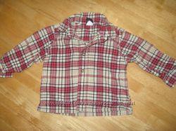 Рубашка в клетку Old Navy, 6-12 месяцев