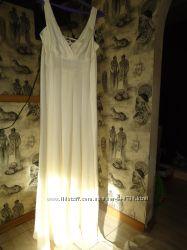 Летнее нарядное бу платье-сарафан, р. 42-44