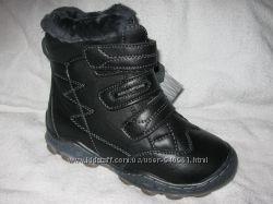 Ботинки зимние КLF для маль р. 33-36 Кожа, цегейка