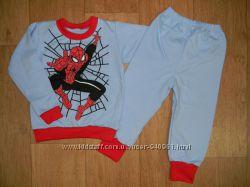 Пижамы на баечке, травка, трикотаж, мальчик р. 92, 98, 104, 110, 116, 122,