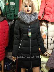 Красивая молодёжная зимняя куртка с чернобуркой,  С-2ХЛ