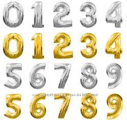 Фольгированные шары цыфры 1-9