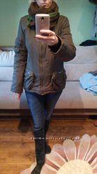Куртка  цвета хаки , р. S-М демисезонная с накладными карманами