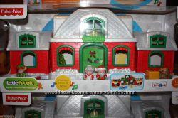 Fisher Price Little People Christmas Огромный дом Santa Claus. Муз. елочка.