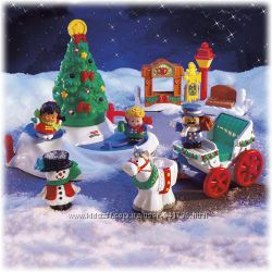 Fisher Little People Christmas Tree Lighting in Discovery Park Елочка фишер