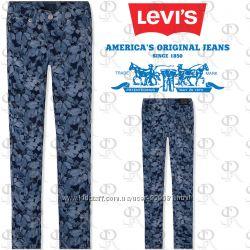 Фирменные супер скини джинсы Levis  для девочек 10-11 лет, .