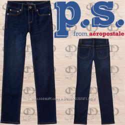 Фирменные скинни джинсики Aeropostale на девочек 7-9 лет.