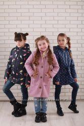 Курточка-парка для девченок в цветах и размерах