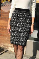 Красивые теплые юбки с узорами длина 60 см. 44-50