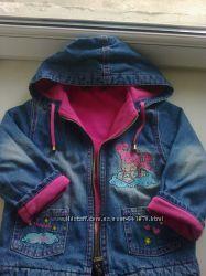 Куртки, джинсовый флисовый костюм на 2-3 года