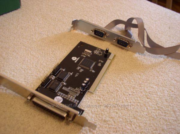 Контроллер PCI 2 COM    1LPT 2RS232, 1IEEE1284