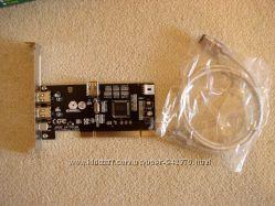Контроллер IEEE1394 FireWire PCI с кабелем