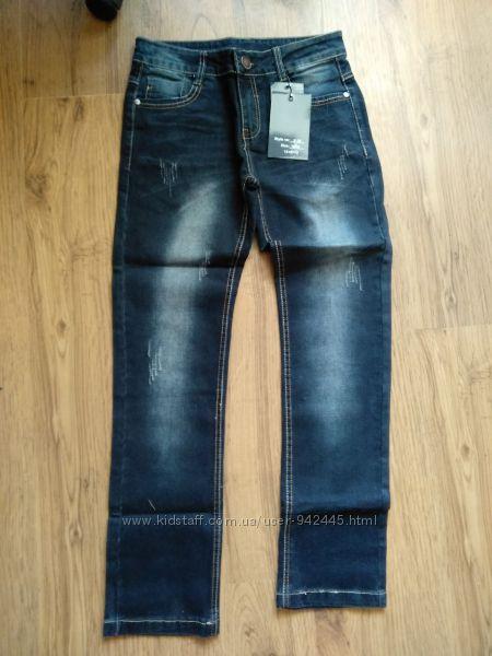 Джинсы для мальчиков, плотный джинс, ТМ S&D, 6-16 лет.