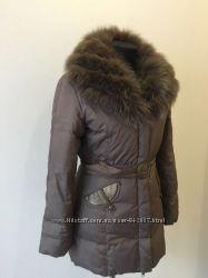 Куртка женская пуховик Натуральный мех, кролик.