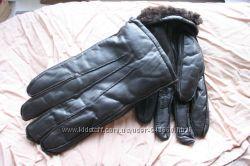 перчатки кожаные натуральный мех румыния 9 размер