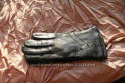 Перчатки женские кожаные лайковые Румыния 7 размер