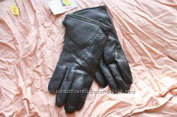 Перчатки женские кожаные лайковые Румыния 7, 5  размер