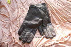 перчатки кожаные на шерстяной и шелковой подкладке Румыния 7, 5 размер