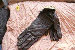 перчатки кожаные женские коричневые Румыния 8 размер