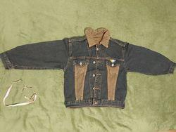 Куртка мальчик 5-6-7 лет  116-120 см джинс джинсовая мальчик