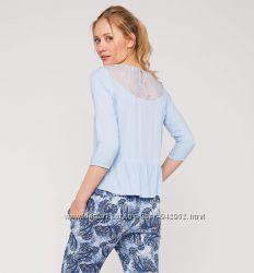 Блуза C&A голубая 36-S