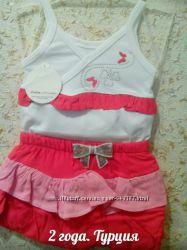 Комплект новый нарядный на 2 года на девочку