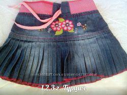 Модная джинсовая юбка 1, 2 г