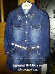 Стильное джинсовое платье 104 и 110 см