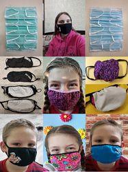 Защитная маска Акция / защитные маски многоразовые натуральные дышащие