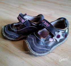 Кожаные туфли ботинки 13 см