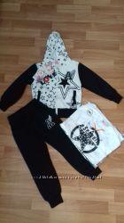 спортивный костюм тройка для девочки 3-4 года новый с этикеткой